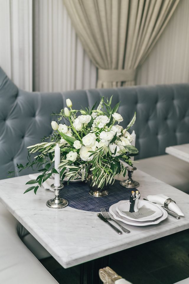Cafe wedding | The Love Studio | see more on: http://burnettsboards.com/2015/03/vintage-dior-wedding-editorial/
