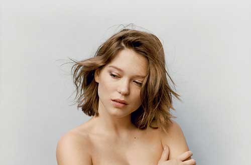 Léa Seydoux Messy Simple Bob Haircuts