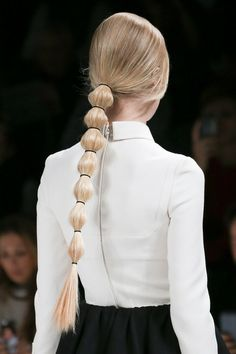 Segmented Ponytail From Back
