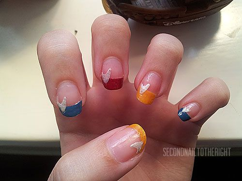 Star Trek Nail Design for French Manicure