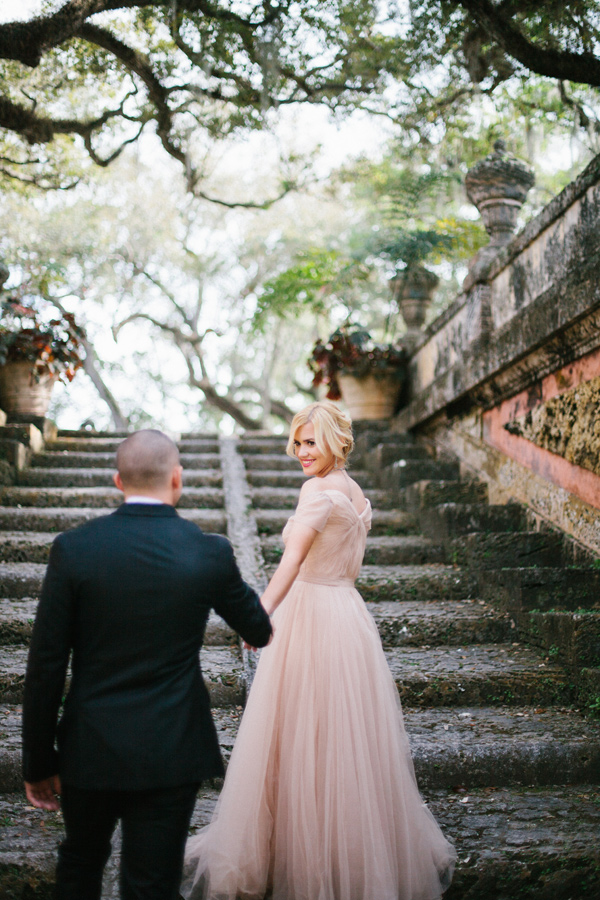 fairytale engagement session - photo by Alee Gleiberman http://ruffledblog.com/an-elegant-miami-engagement-session