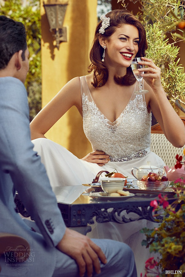 bhldn spring 2015 wedding dresses hollywood sleeveless sheer strap v neckline beaded bodice tulle a line bridal gown persiphone zoom