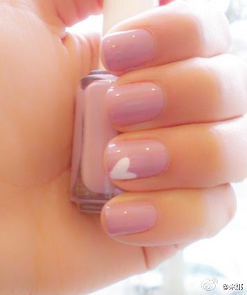 Pink French Manicure Design