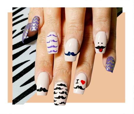 Amazingly Stylish Graphic Nail Designs