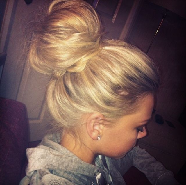 Messy Topknot for Long Hair
