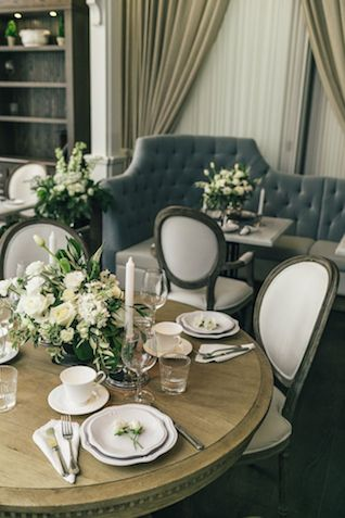 French cafe wedding | The Love Studio | see more on: http://burnettsboards.com/2015/03/vintage-dior-wedding-editorial/