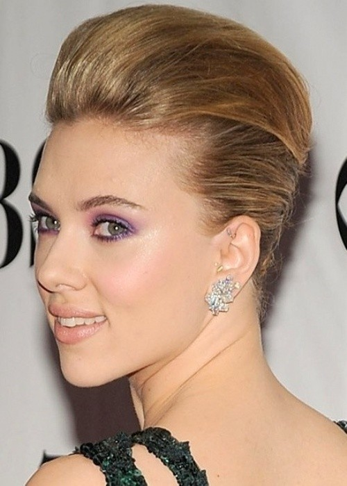 Perfect Updo Hairstyles for Short Hair: Scarlett Johansson Short Hair Style