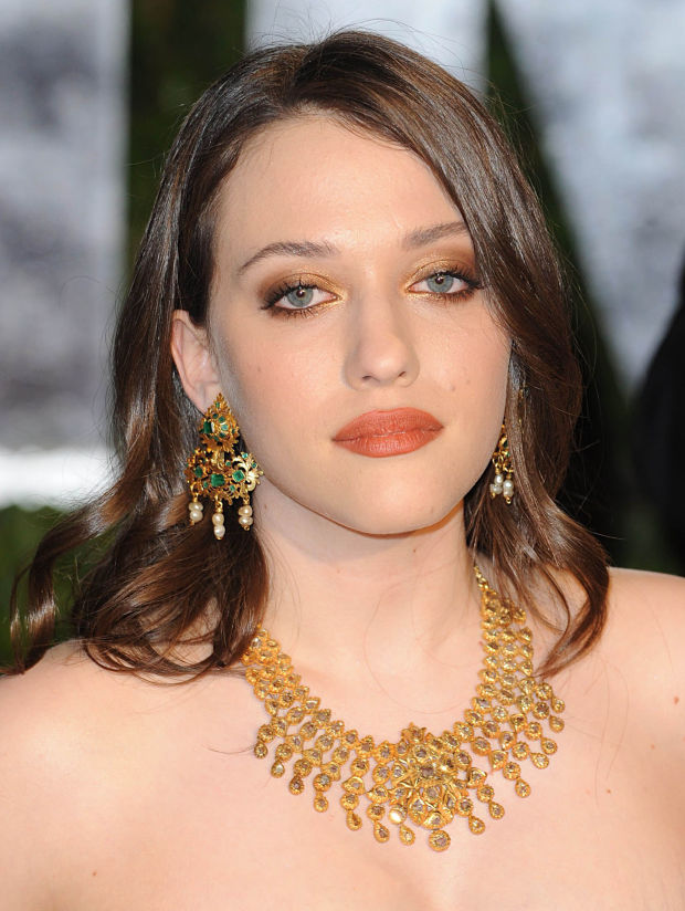 Kat Dennings at the 2010 Vanity Fair Oscar party.