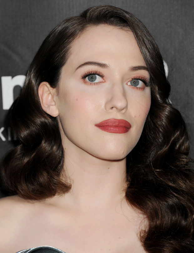 Kat Dennings at the 2014 amfAR LA Inspiration Gala.