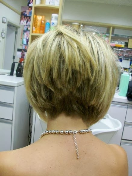 Bob hairstyles Stacked in Back