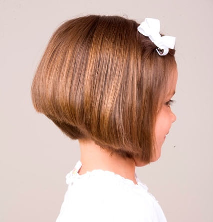 Cute Stacked Bob Hairstyle for Girls