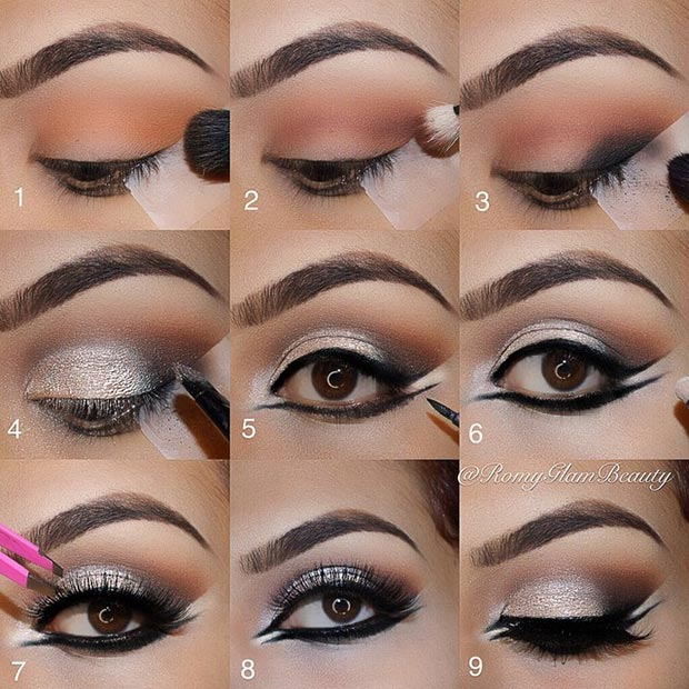 Double Eyeliner Eye Makeup Pictorial