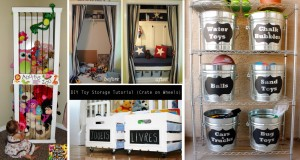 30+ Amazing DIY Toy Storage Ideas For Crafty Moms