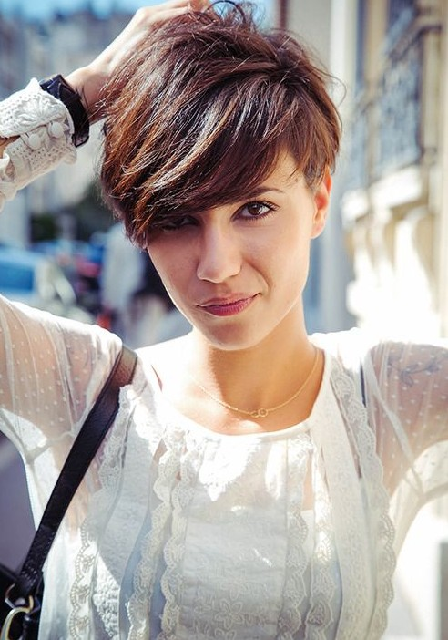 Short Haircut for Summer 2014 - Cute Layered Short Hairstyle with Bangs