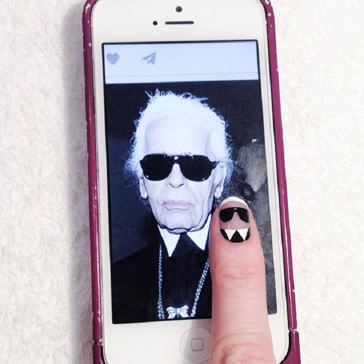 karl lagerfeld nails