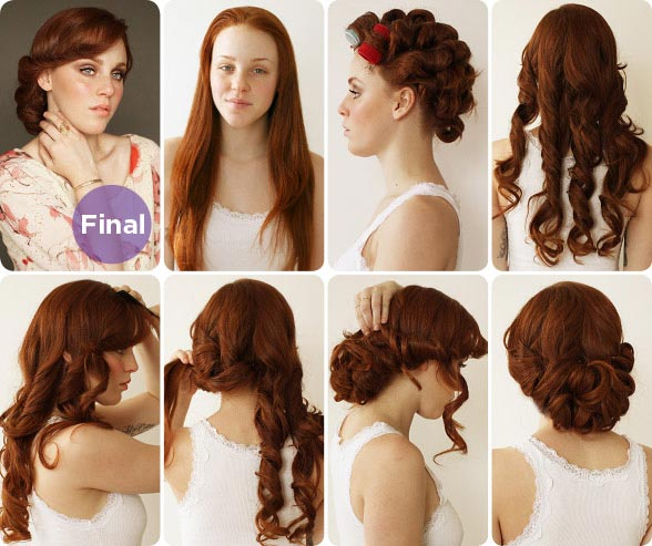 Vintage Inspired Updo Tutorial