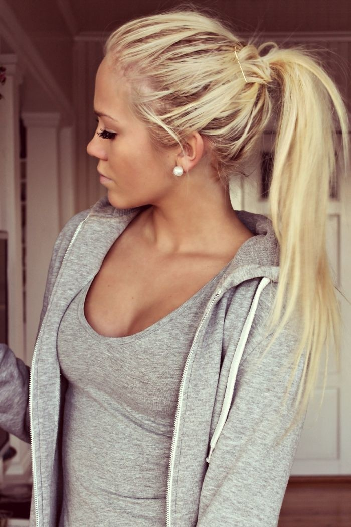 Cute Ponytail Hairstyle for Long Hair