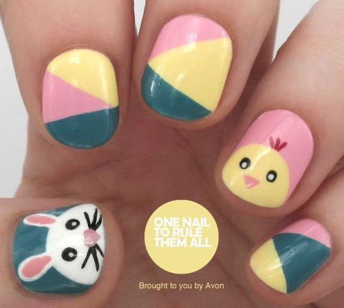 20 Simple Easy Cool Easter Nail Art Designs Ideas Trends Stickers 2015 18 20 Simple, Easy & Cool Easter Nail Art Designs, Ideas, Trends & Stickers 2015