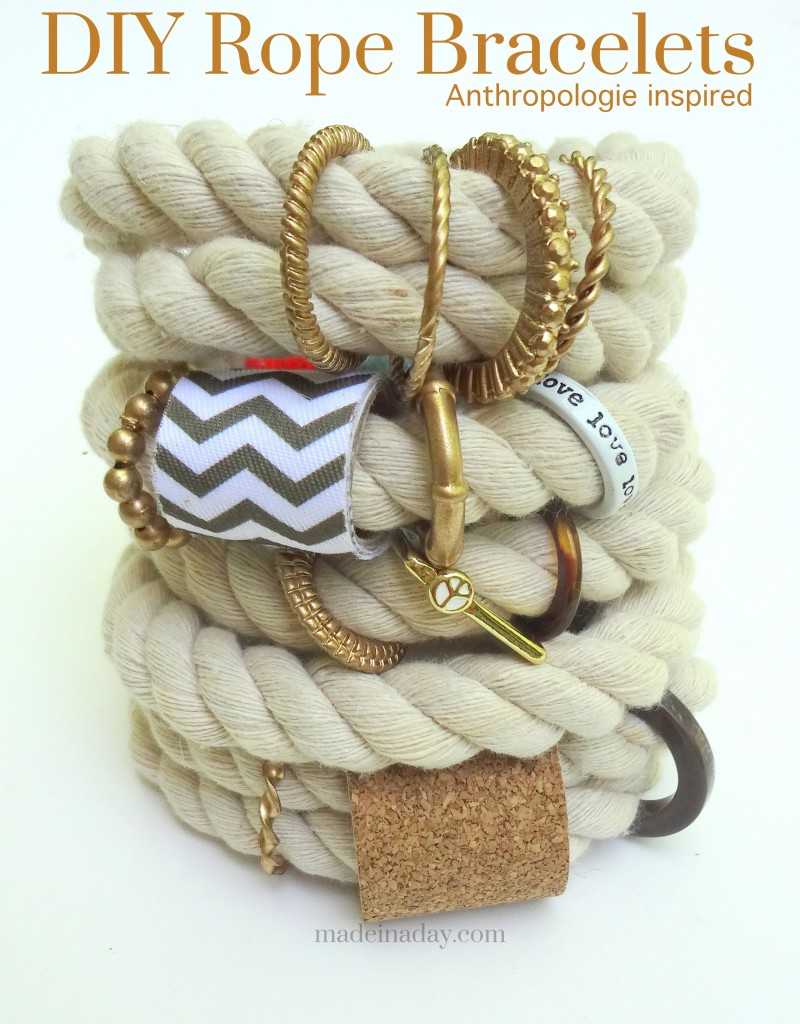 DIY Anthropologie-Inspired Rope Bracelet