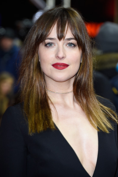 Dakota Johnson Red Lips