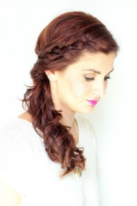 twisted side braided ponytail hair tutorial