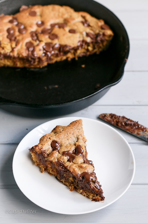 Nutella-stuffed Deep Dish Skillet Cookie