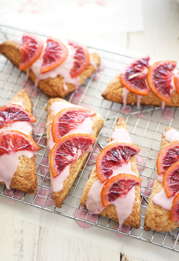 Blood Orange Scones