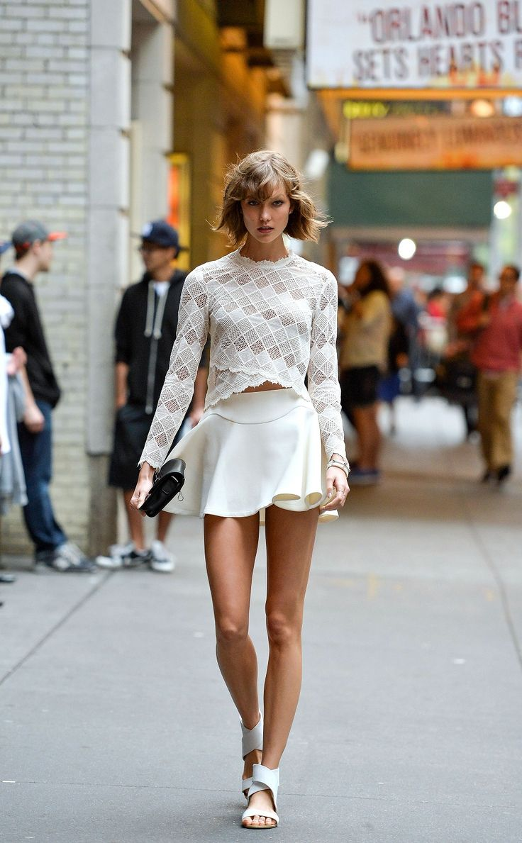 sweet and sexy look The Best Street Style Outfits from Karlie Kloss