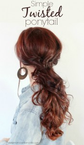 simple twisted ponytail