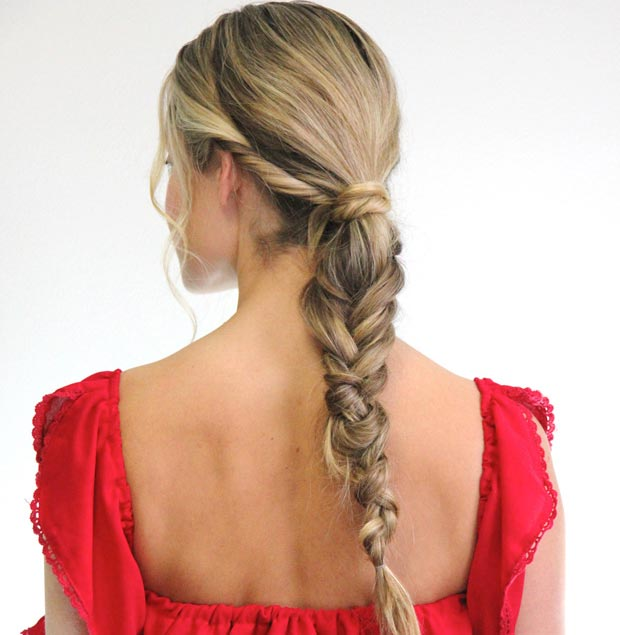 Chunky Low Fishtail Ponytail