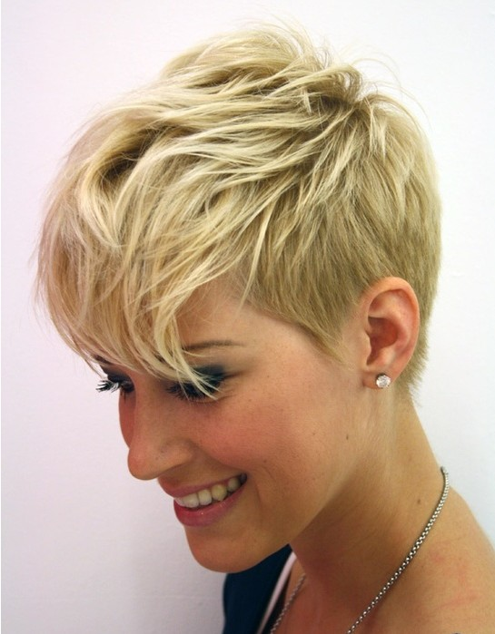 Short Layered pixie cut 2015