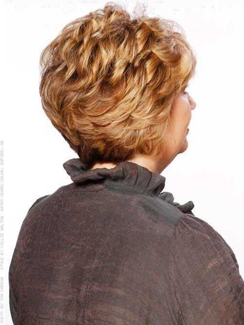 Back View Hairstyles Short Curly Hair Over 50