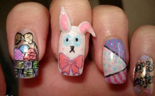20 Easter Bunny Nail Art Designs Ideas Trends Stickers 2015 18 20 Easter Bunny Nail Art Designs, Ideas, Trends & Stickers 2015