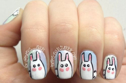 20 Easter Bunny Nail Art Designs Ideas Trends Stickers 2015 19 20 Easter Bunny Nail Art Designs, Ideas, Trends & Stickers 2015
