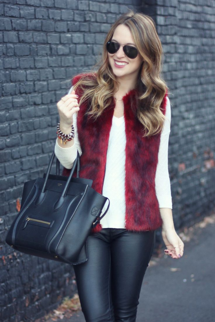 marsala fur gilet Gorgeous Colors You Need to Add to Your Closet Right Now