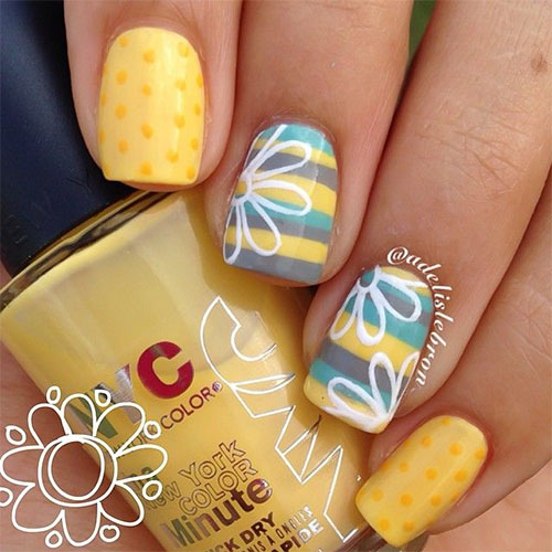 15 Spring Flower Nail Art Designs Ideas Trends Stickers 2015 3 15+ Spring Flower Nail Art Designs, Ideas, Trends & Stickers 2015