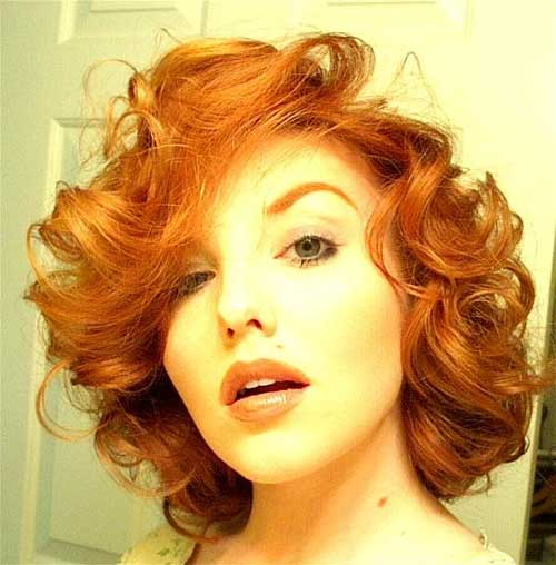Orange Red Hair Color for Curly Hairstyle