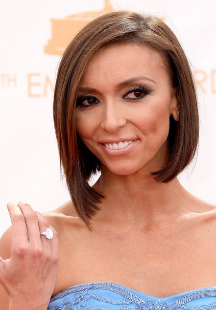 Giuliana Rancic Short Haircut - Sleek Asymmetric Bob Hairstyle