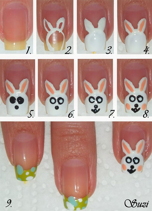 10 Step By Step Easter Nail Art Tutorials For Beginners Learners 2015 4 10 Step By Step Easter Nail Art Tutorials For Beginners & Learners 2015