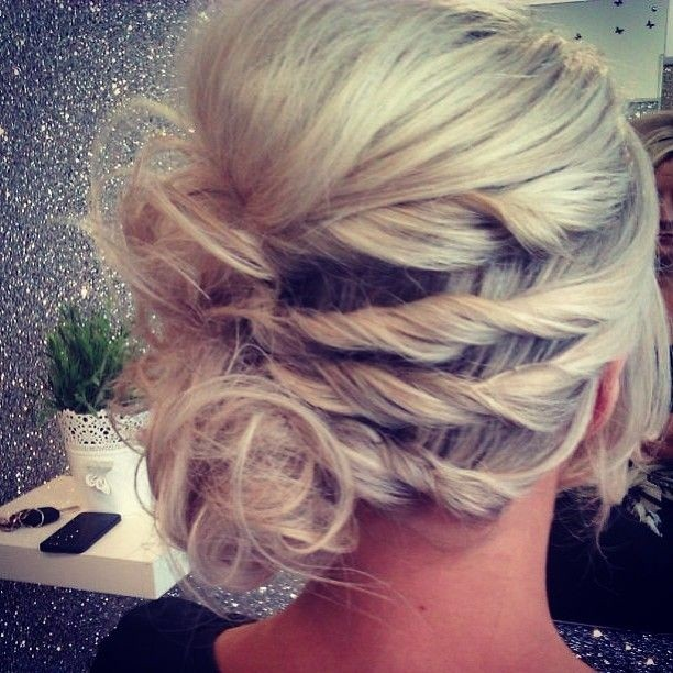Messy Updo for Holiday Hairstyles