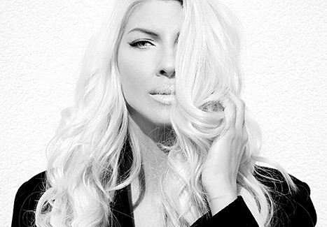 Jelena Karleusa poses in a black and white photo shared via Instagram.