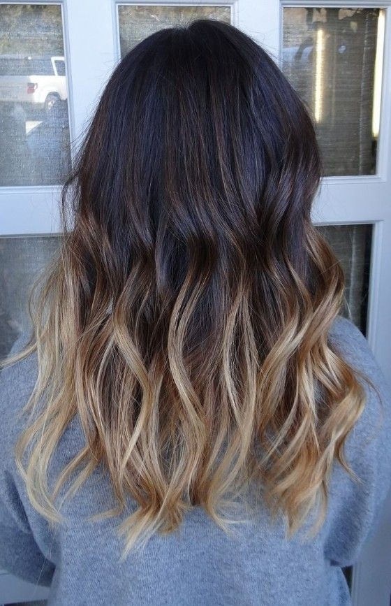Medium Wavy Hairstyle for Ombre Hair