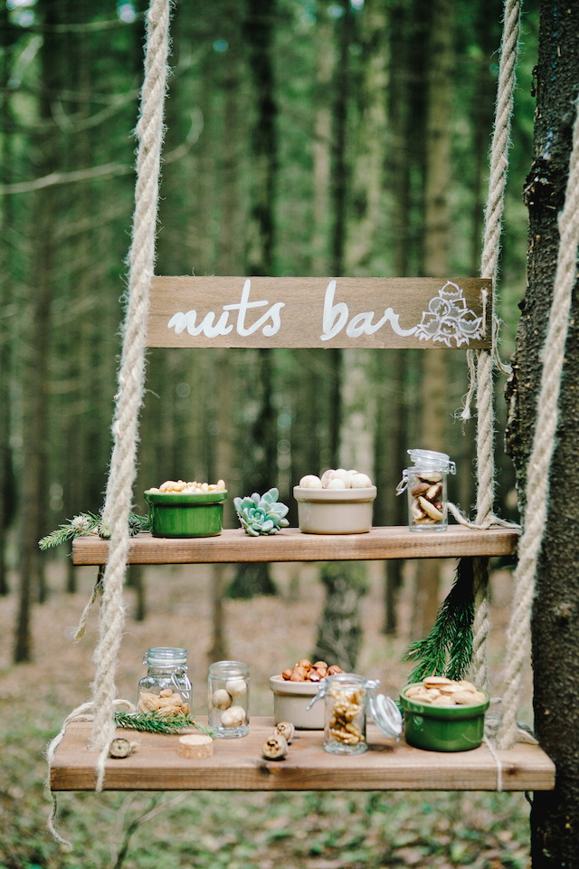 Nut bar | Irinia Kilmova Photography | see more on: http://burnettsboards.com/2015/03/winter-forest-wedding/