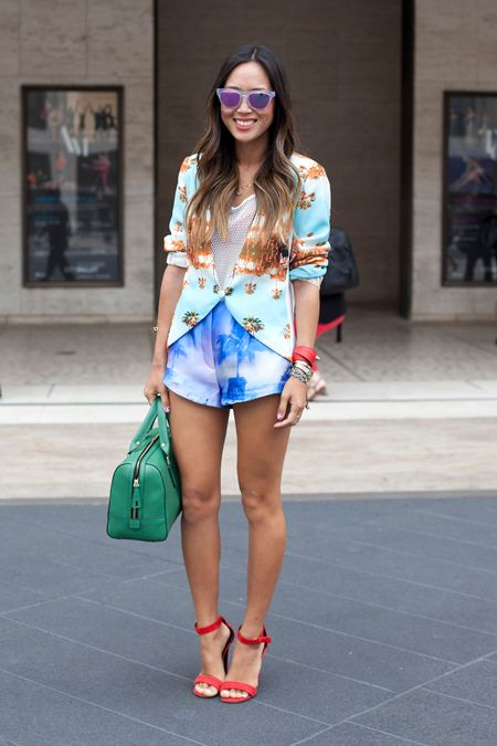novelty print outfit Mix Print Combos to Wear this Spring