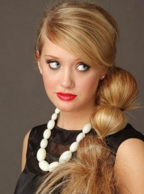 Segmented Bridal Ponytail Hairstyle