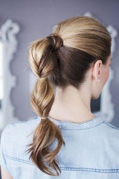 Segmented Ponytail Back