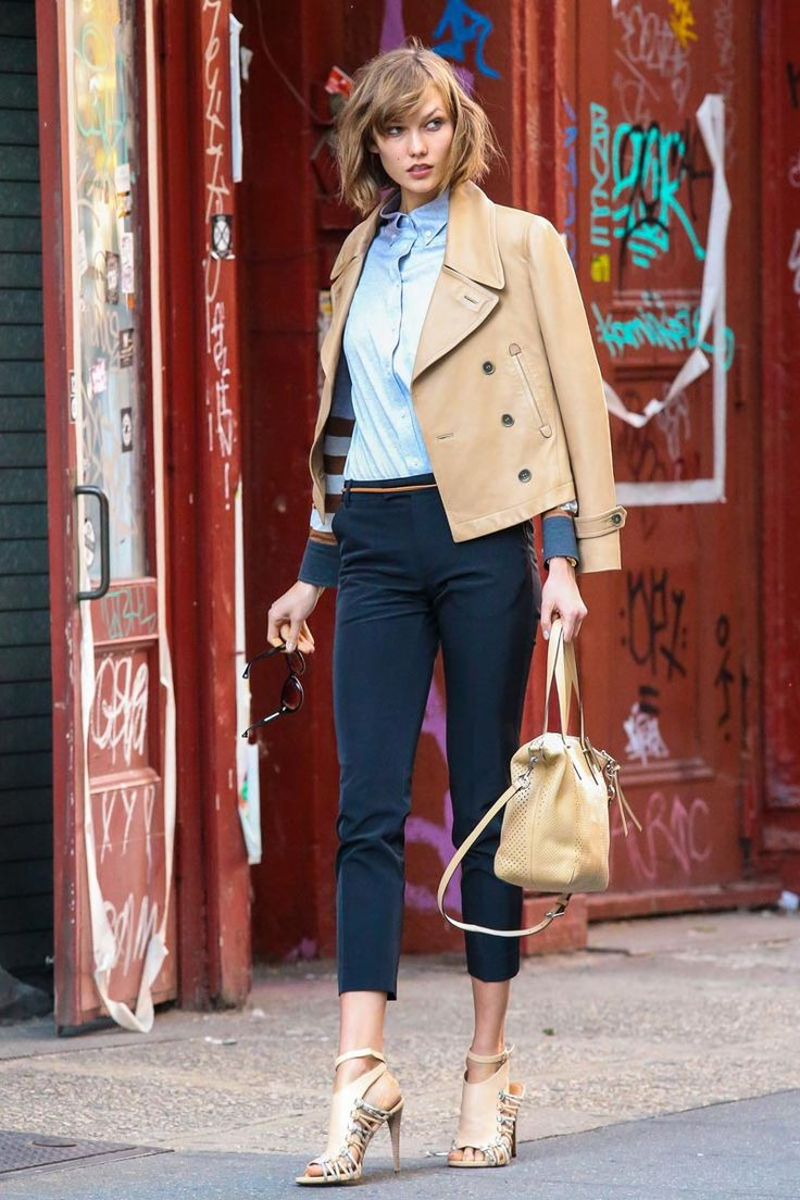 nice and neutral The Best Street Style Outfits from Karlie Kloss