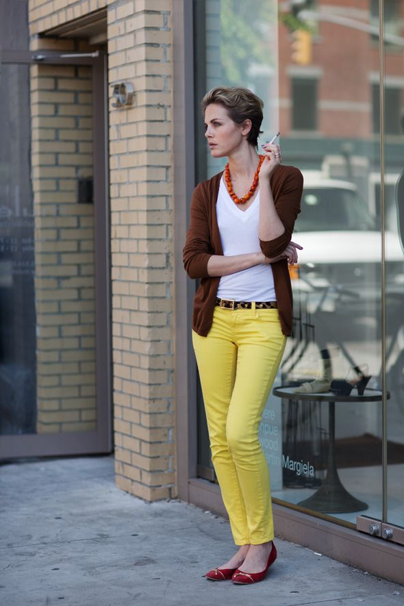 light yellow pants Gorgeous Colors You Need to Add to Your Closet Right Now