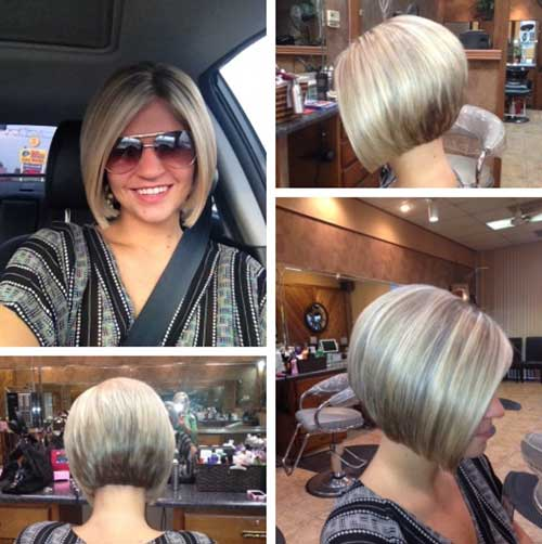 Low Lighted Yellow Bob Haircut