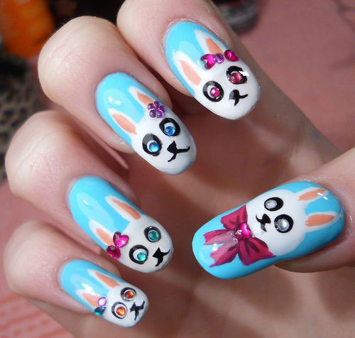 20 Easter Bunny Nail Art Designs Ideas Trends Stickers 2015 13 20 Easter Bunny Nail Art Designs, Ideas, Trends & Stickers 2015